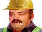 Sticker risitas chantier casque bricoleur ouvrier