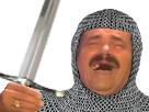 Sticker risitas chevalier epee croisade guerre