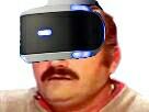Sticker risitas casque vr realite virtuel