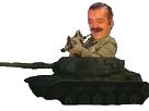 Sticker risitas armee guerre tank soldat