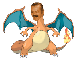 Sticker risitas dracaufeu pokemon 006