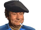 Sticker issou paysan fermier cigarette