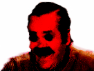 Sticker deforme difforme bizarre rouge peur terreur horreur alerte
