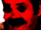 Sticker deforme difforme rouge bizarre peur terreur horreur alerte
