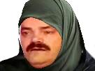 Sticker burka arabe voile