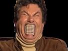 Sticker dent furax enerve bouche