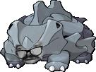 Sticker pokemon rhinocorne risitas lunettes