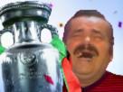 Sticker risitas heureux coupe champion foot fete euro mondial