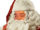 Sticker risitas pere noel barbe cadeau
