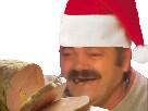 Sticker risitas noel cadeau reveillon manger foie gras diner