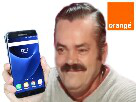 Sticker risitas operateur telephone smartphone orange