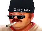 Sticker risitas rsa thug life