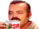 Sticker rsa tasse worthless loser risitas