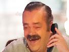 Sticker telephone risitas rire