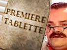 Sticker premiere page tablette lunettes risitas
