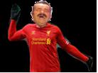 Sticker football liverpool fc rouge gants
