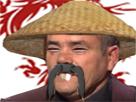Sticker asiatique chine chinois japonnais chapeau grandes dents yatangaki