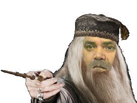 Sticker albus dumbledor harry potter barbe mage magicien baguette sorcier risitas