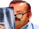 Sticker docteur medecin radio lunette