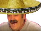 Sticker mexicain tacos sombrero