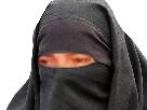 Sticker risitas voile femme burkini