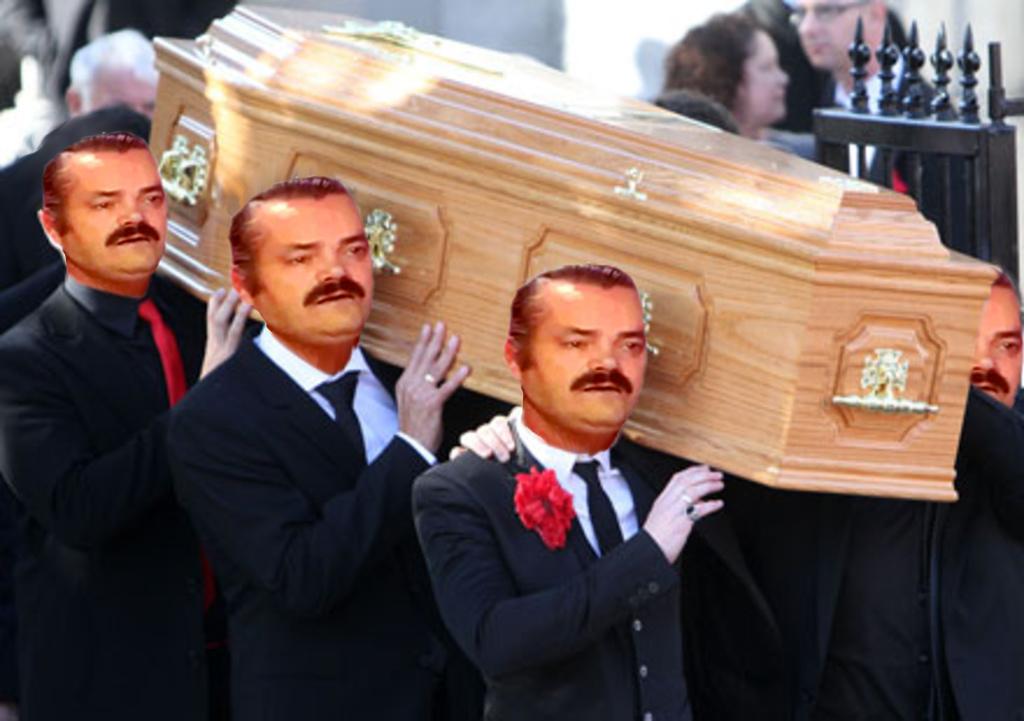 Sticker cercueil risitas mort 6 issou