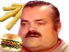 Sticker burger gros obese mcdo