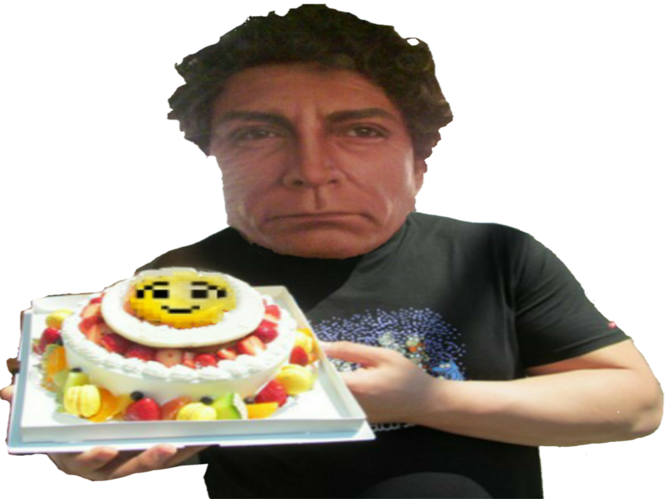 Sticker jesus gateau alimentaire hap kheys anniversaire