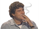 Sticker jesus fumer cigarette zen cool relaxe