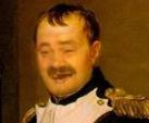 Sticker risitas general armee napoleon france