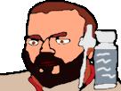 Sticker minox minoxidil eco dessin medoc beubar bebar barbe