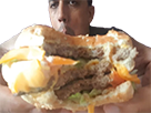 Sticker theburger78 thekairi78 tk78 burger gros sale manger