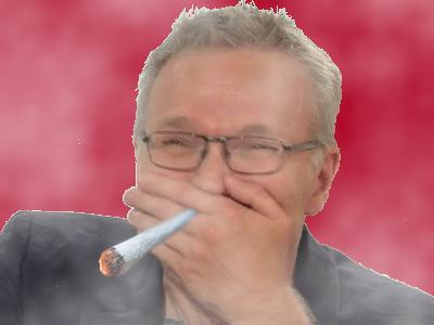 Sticker ruquier fumeur rire cool no stress tranquille weed au calme detente zen canabis beuh bedo