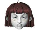 Sticker angela anaconda dessin anime gris brune dents colere