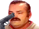 Sticker arme pistolet suicide risitas