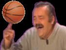 Sticker risitas doigt basketteur