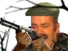 Sticker risitas fusil chapeau tir chasse