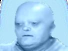 Sticker risitas mort chauve bleu