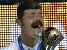 Sticker cristiano ronaldo meilleur joueur football messi real madrid ballon or buteur rire narcissique egocentrique portugal