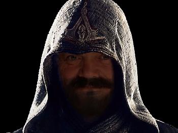 Sticker assassins creed assassin capuche sombre est mon passe dark templiers barbe