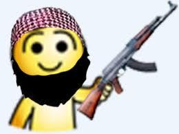 Sticker hap djihad terroriste kalash