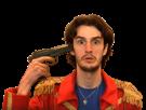 Sticker bob lennon bob lennon barbare youtube yt flingue pistolet revolver pan suicide kill balle