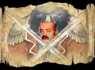 Sticker roi des pirates execution justice larmes pleure triste tristesse risitas