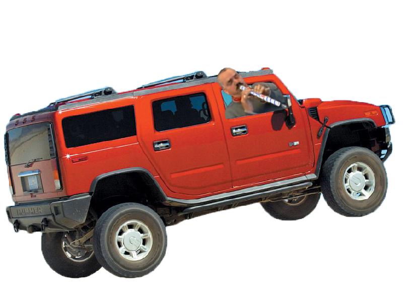 Sticker risitas flute hummer rouge voiture killerjamme
