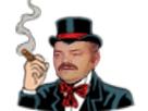 Sticker risitas bridgely cigare