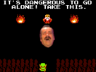 Sticker zelda its dangerous to go alone take this idtgatt danger alone nes meme