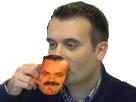Sticker florian phillipot delire se tasse cafe fn