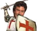 Sticker jesus deus vult templier croisade chevalier guerre sainte