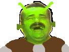Sticker shrek martien alien
