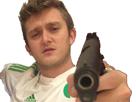 Sticker vald gun permis de tuer niquer ta mere